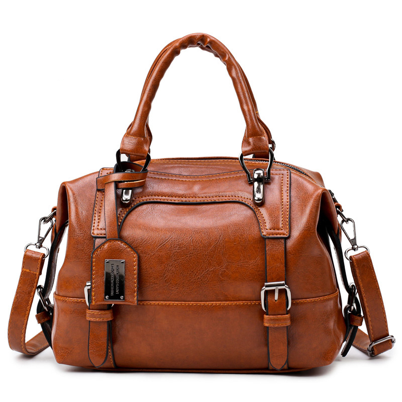 aa875eb99d06 Wax oil leather designer handbag - China Shop Direct